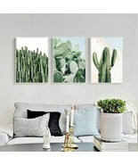 Nordic Green Cactus Wall Art Blue Posters And Prints Plant Sunlight Deco... - $5.99+