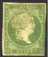 Spain 1855 Scott# 36a MNG - $1,400.00