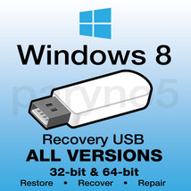*USB WINDOWS 8 HOME 64-bit Recovery Install Reinstall Restore USB Flash ... - $13.99