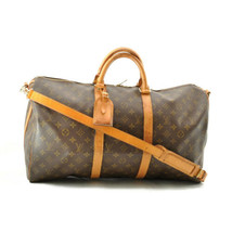 LOUIS VUITTON Monogram Keepall Bandouliere 50 Boston Bag Auth ar1474 *PE... - $450.00