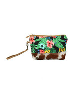 Flower Tapestry Canvas+Hairon Leather Wristlet Bag-Bright Floral Wristle... - $20.95