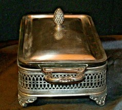 Sterling Silver Server  with Fire King Glass Ware AA-191818  Antique image 2