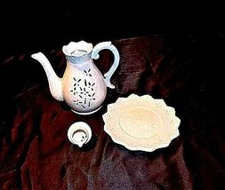 Elements Candle Holder3 Piece Pitcher Plate with LidVintageAA18-1221 image 8