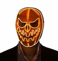 Halloween Masks Led Light Up Pumpkin Mask (Orange) - £26.43 GBP