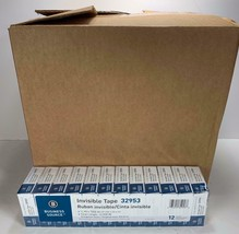 """BUSINESS SOURCE Invisible Tape 3/4""""x1000"""" Clear Refill 32953 1"""" CORE Pac... - $168.29"""