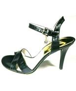 Michael Kors Womens Size 8 M  Elisa Black Leather Slingback Heels Sandal... - $41.90