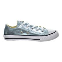 Converse Chuck Taylor All Star OX Little Kid's Shoes Metallic Glacier 354038f - $39.95