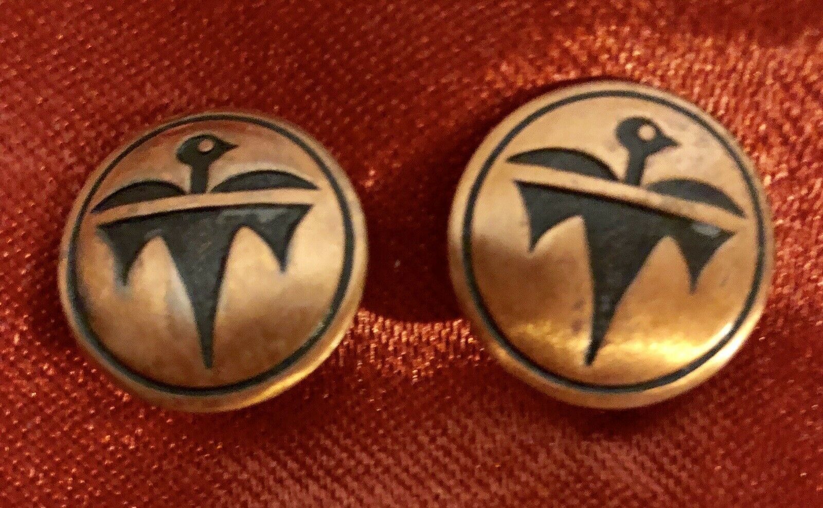 VINTAGE MID-CENTURY CLIP ON EARINGS FIREBIRD 1950's CLASSIC!