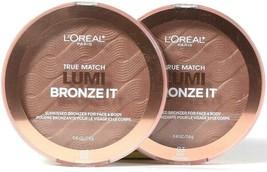 2 L'Oreal Paris 0.41 Oz True Match Lumi Bronze It 03 Deep Sunkissed Face & Body - $26.99