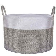 """COMEMORY Large Cotton Rope Basket, 20"""" x 14"""" Laundry Blanket Storage Bas... - €34,08 EUR"""