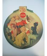 Coca-Cola Original 1950s Santa Things Go Better with Coke Display Paper ... - $24.75