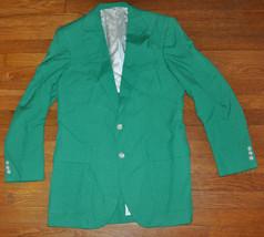Vtg Izod Lacoste GREEN Blazer Jacket Sport coat Xmas Frat Alligator 38 M... - $39.99