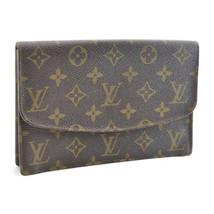 LOUIS VUITTON Monogram Pochette rabat 20 Clutch Bag M51935 LV Auth sa2213 - $298.00