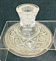"""Victorian Imperial Cape Cod Glass Candle Stick Holder 3"""" Tall - $14.36"""