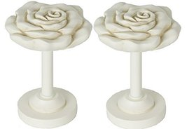 Urbanest Rose Designer Decor Drapery Holdback, 2 Pieces, Ivory - $25.73