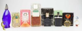 Lot of 8 Vintage Designer Perfumes and Empty Bottles, Great Collection - $413.94