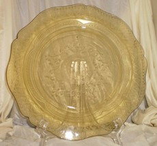 Vintage Yellow Patrician (spoke) Federal Glass Plate 11 inch 1933-37 - $7.87