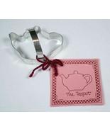 THE TEAPOT TIN PLATED STEEL COOKIE CUTTER & RECIPE CARD TEA POT BRAND NEW - $7.91
