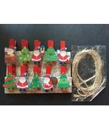 200pcs Santa Claus Clothespin Crafts,Wooden Paper Clips,Christmas Tree O... - $26.00