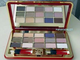 Red Estee Lauder 15 Deluxe Eye Shadow Palette Roseberry Vanilla Ginger Drop Mink - $46.52