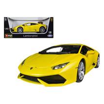 Lamborghini Huracan LP610-4 Yellow 1/18 Diecast Car Model by Bburago 11038y - $59.82