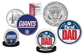 Best Dad - NEW YORK GIANTS 2-Coin Set US Quarter & JFK Half Dollar NFL L... - $14.80