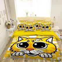 3D Yellow Tiger 26 Bed Pillowcases Quilt Duvet Single Queen King US Lemon - $102.84+