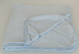 Carters Light Blue White Polka Dot Cotton Receiving Swaddle Baby Blanket... - $39.59