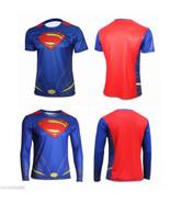 Halloween Superhero Superman Costume Tee Short/Long Sleeve T-Shirt Sports Jersey - $13.85 - $15.83