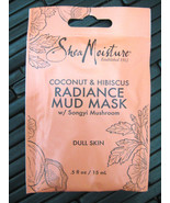 SHEA MOISTURE MUD Face MASK Radiance with coconut & hibiscus Dull Skin - $5.99