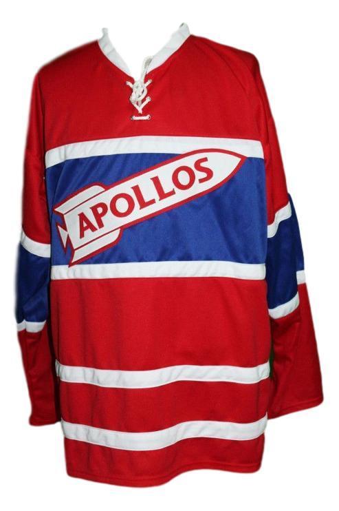 Houston apollos retro hockey jersey red   1