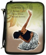 Bible Cover Organizer NEW She Who Kneels African American 9 3/8 x 6 1/2 ... - $27.40
