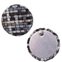 Blue Woven Knit Stud Earrings - $11.99
