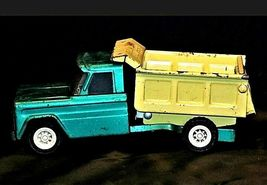 Vintage 1960s Structo Kom Pak Dump Truck Green and Yellow AA19-1431 image 4