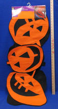 "Halloween Table Runner Orange Pumpkin Jack O Lantern Shaped Felt 15"" x 7... - $12.86"