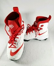 Nike Force Savage Elite Td Men 17 Football Cleats Red/White Nwt Free Socks - $33.28