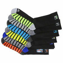 FILA Men's 6 Pack Classic Sport Athletic Gym Moisture Control Absorb Dry Socks image 10