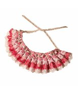 Retro Style Pink Lace Collars Floral Beads Handmade Cat/Dog Necklace 8.2... - $16.60