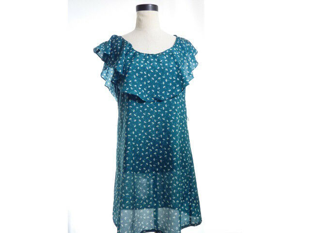 Primary image for Ginko Leaf Print Dress M