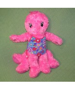 "BUILD A BEAR PINK OCTOPUS STUFFED ANIMAL FLOWER BATHING SUIT 17"" PLUSH S... - $16.39"