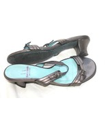 Thierry Rabotin Pearled Gray  Leather Dressy Sandals Sz 37 - $34.65