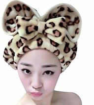 Leopard Beauty Cap Hair Drying Towels/Shower Caps Hair Towel Wipe Hair Cap