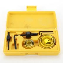 8PCS Drill Bit Set 19 64mm Rotary Tool Hole Saw Kit Woodworking Opener C... - $14.90