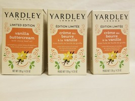 (3) Yardley London Vanilla Buttercream Clove - Limited Edition 4.25oz-bar soaps - $16.82