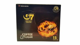 G7 Coffe & Sugar Vietnamese Coffee, 8.5oz(240g), 15 Sticks - $12.86