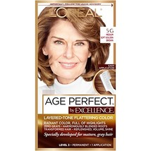 L'Oreal Paris ExcellenceAge Perfect Layered Tone Flattering Color, 5G Me... - $8.04