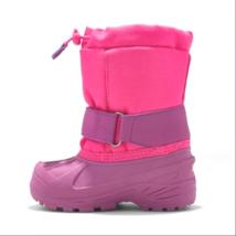 Cat & Jack Toddler Girls' Zera Toggle Pink Waterproof Insulated Winter Boots 5-6 image 2