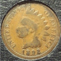 1892 Indian Head Penny G4 #0498 - $1.99