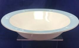 "Royal Doulton REFLECTION Floral Print Blue Round Vegetable Serving 10"" Bowl - $50.45"