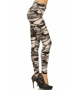 Buttery Soft Charcoal Camouflage Plus Size Leggings - 3X-5X - $21.77